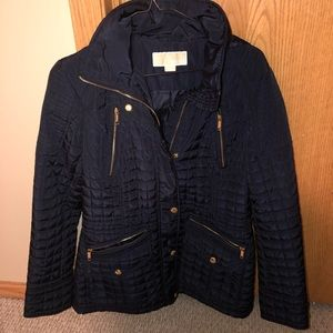 Navy blue Quilted Michael Kors jacket size small